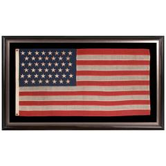 45 Stars on an Antique American Flag with Elongated Proportions