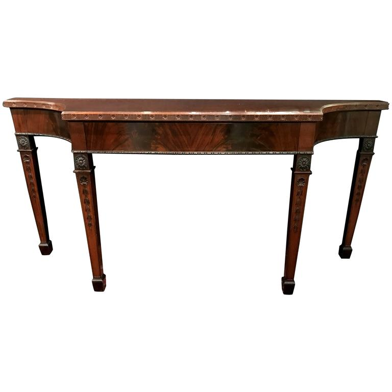 Old Colony Chippendale Style Mahogany Console Or Sideboard