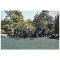 Apollo's Fountain, a Unique Bronze Copy after the Original Group in Versailles