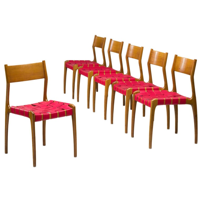 Set of Six Italian Dining Chairs For Sale