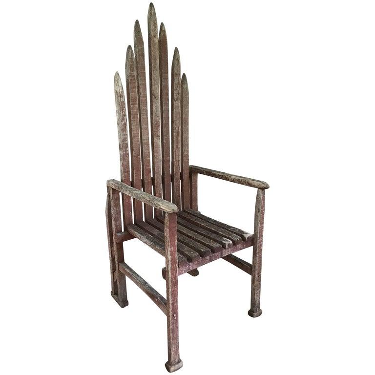 American Folk Art Armchair For Sale