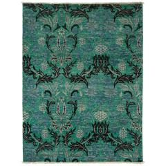 Green Arts And Crafts Area Rug, Solo Rugs