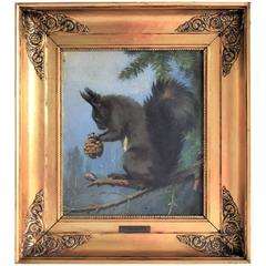 Late 19th Century, Squirrel Eating Cone by Adolf Mackeprang