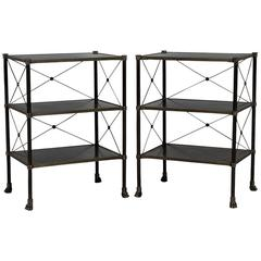 Pair of Empire Accent Tables in Black