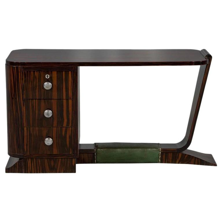 Rare french rosewood art deco writing desk for sale at 1stdibs for Art deco writing