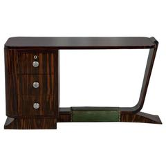 Rare French Rosewood Art Deco Writing Desk