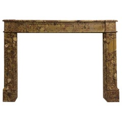 18th Century Louis XV Mantel in Breche De Alep