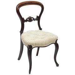 19th Century English Mahogany Balloon Back Side Chair
