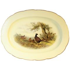 Royal Worcester Porcelain Platter with Pheasants