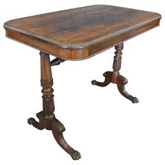 19th Century Regency Rosewood Side Table