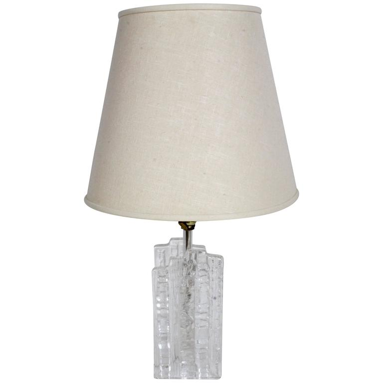 Uno Westerberg For Pukeberg Ice Cube Swedish Glass Table Lamp 1