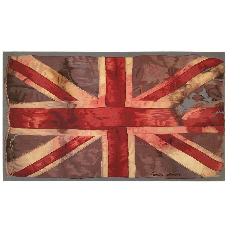 Limited Edition Vivienne Westwood Union Jack Aubusson Tapestry