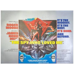 """Hand Signed by Roger Moore, """"The Spy Who Loved Me"""", Film Poster, 1977"""
