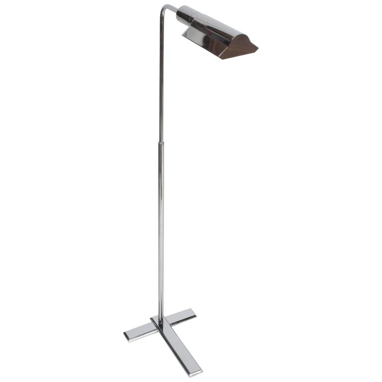 Cedric Hartman Style Adjustable Chrome Floor Lamp At 1stdibs