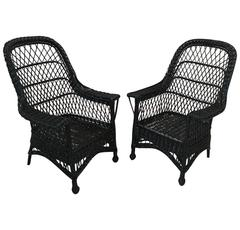 Antique Wicker Chairs by Paine Furniture