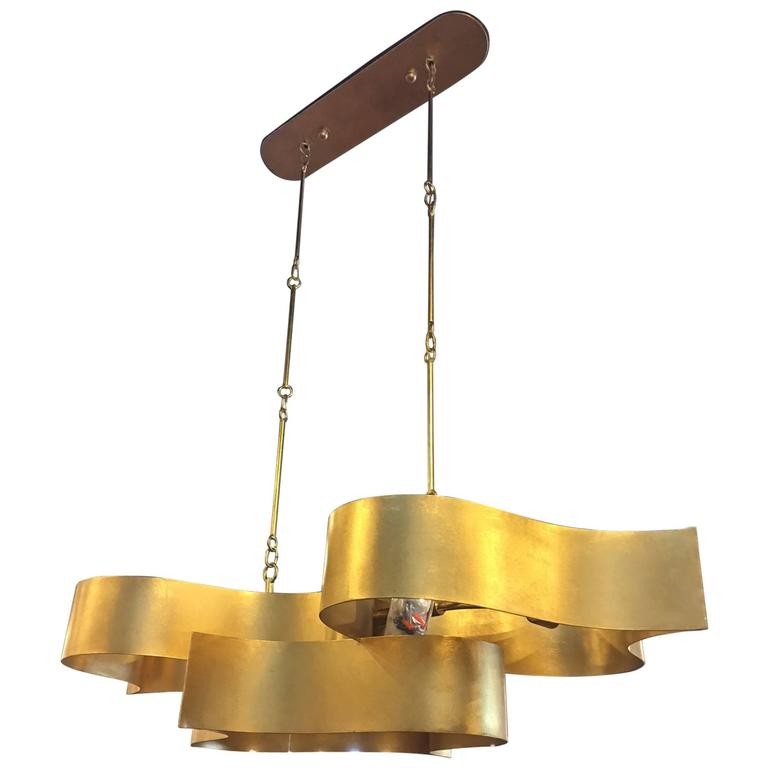Currey And Company Lotus Chandelier: Currey Grand Oval Lotus Chandelier At 1stdibs