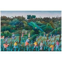 Joseph Jean-Gilles Haitian Landscape Painting
