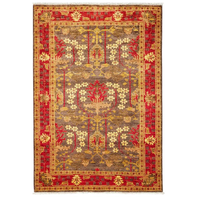 Arts And Crafts Rugs Pottery Barn: Brown Arts And Crafts Area Rug, Solo Rugs For Sale At 1stdibs
