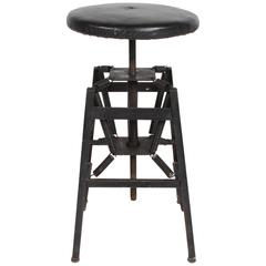 American Cabinet Co. Industrial Architects Drafting Spring Stool