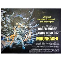 Hand Signed by Roger Moore, Moonraker, 1979