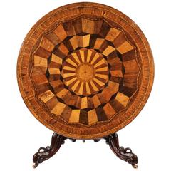 Exceptional and Rare 19th Century Specimen Wood Tilt-Top Table