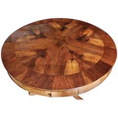 Burled Walnut Italian Center Table