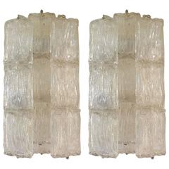 Pair of Murano Glass Sconces, Made in Venice