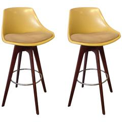 Pair of Bar Stools, Mid-Century