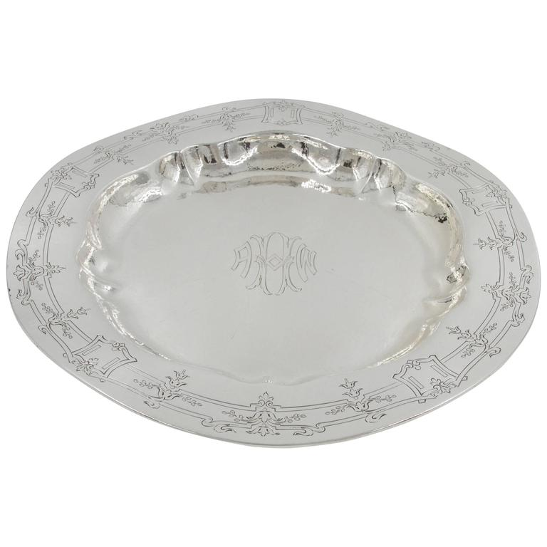 Sterling Silver Hammered Tray