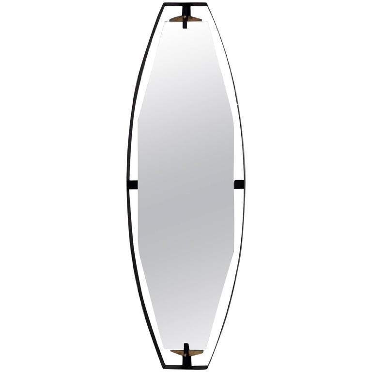 Italian Ovular Floating Mirror