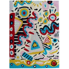 Midcentury Whimsical Rug or Tapestry by Andre Miripolsky
