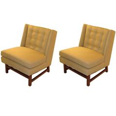 Pair of Edward Wormley Style Mid-Century Chairs