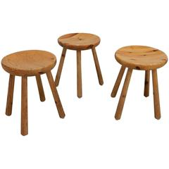 Three Charlotte Perriand Attributed to Stools