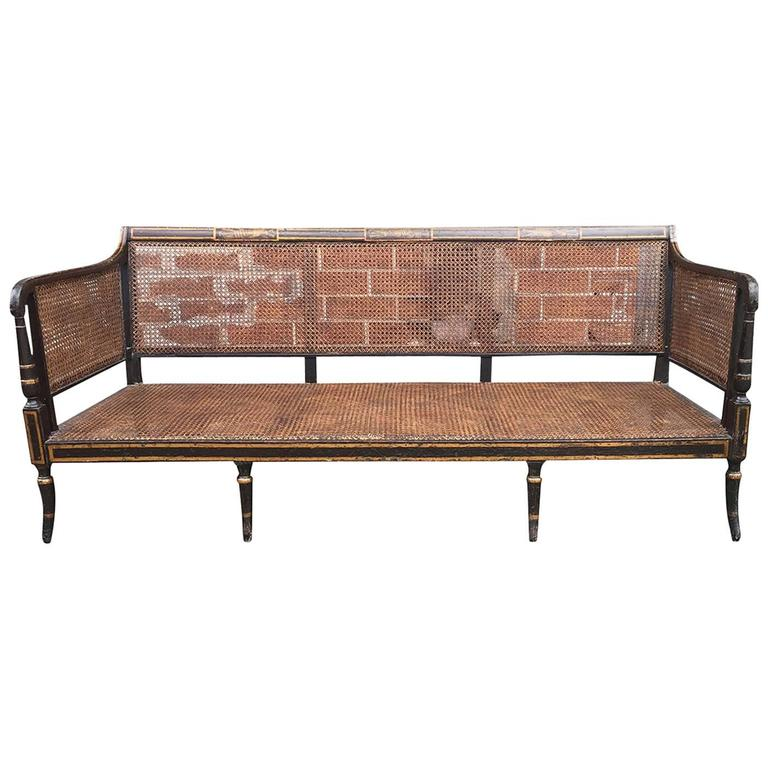 Regency Period Painted Sofa or Bench Original Paint, circa 1820