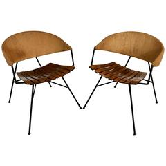 Pair of Arthur Umanoff for Raymor Lounge Chairs, 1950s