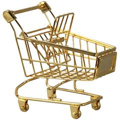 The Gold Cart in bronze, steel, and 18k gold by Christopher Kreiling