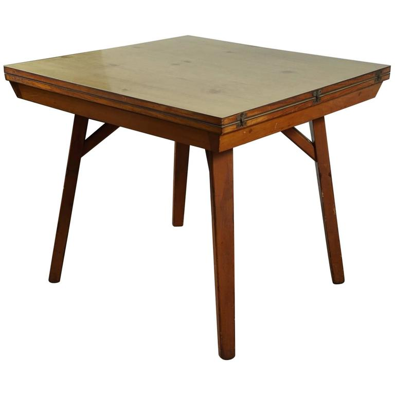 Square Flip Top Table At 1stdibs