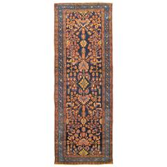 Antique Persian Hamadan Runner with Floral Design and Jewel Tones, circa 1920