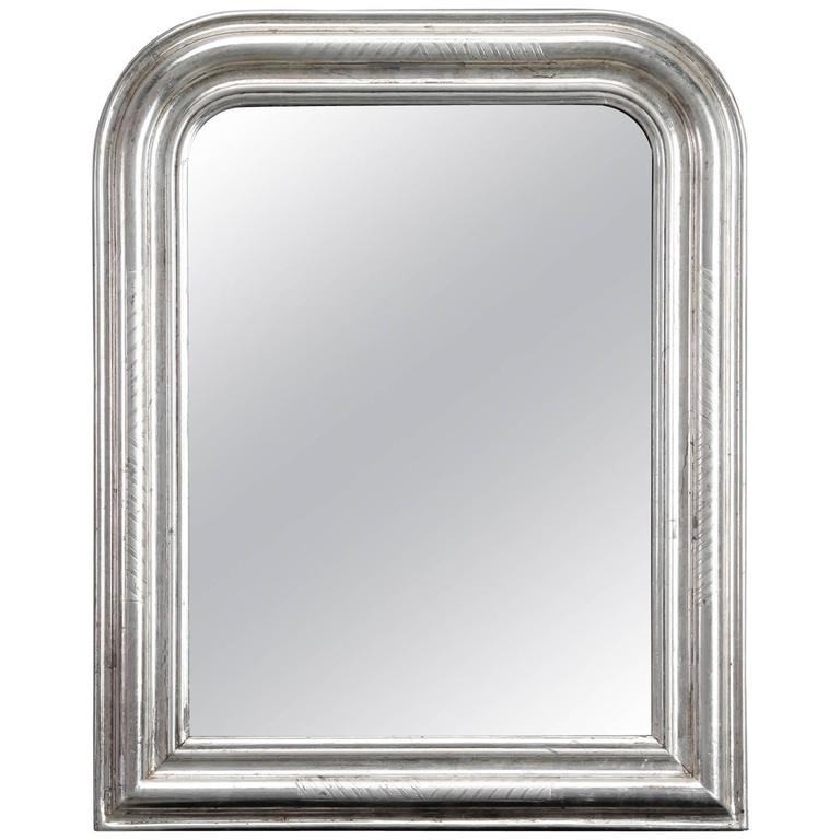 Small silver gilt louis philippe mirror for sale at 1stdibs for Small silver mirror