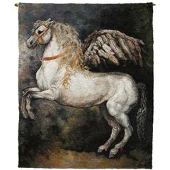 "Large Tapestry ""Pegasus"" By Beata Rosiak"