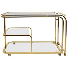 US Brass Extending Drinks/Entertaining Trolley