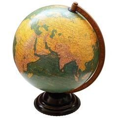George F Cram Terrestrial Glass Illuminated Globe