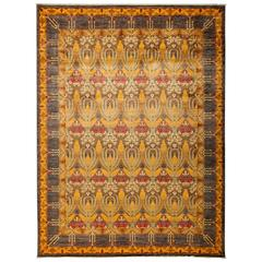 Yellow Arts and Crafts Area Rug, Solo Rugs