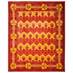 Red Arts and Crafts Area Rug