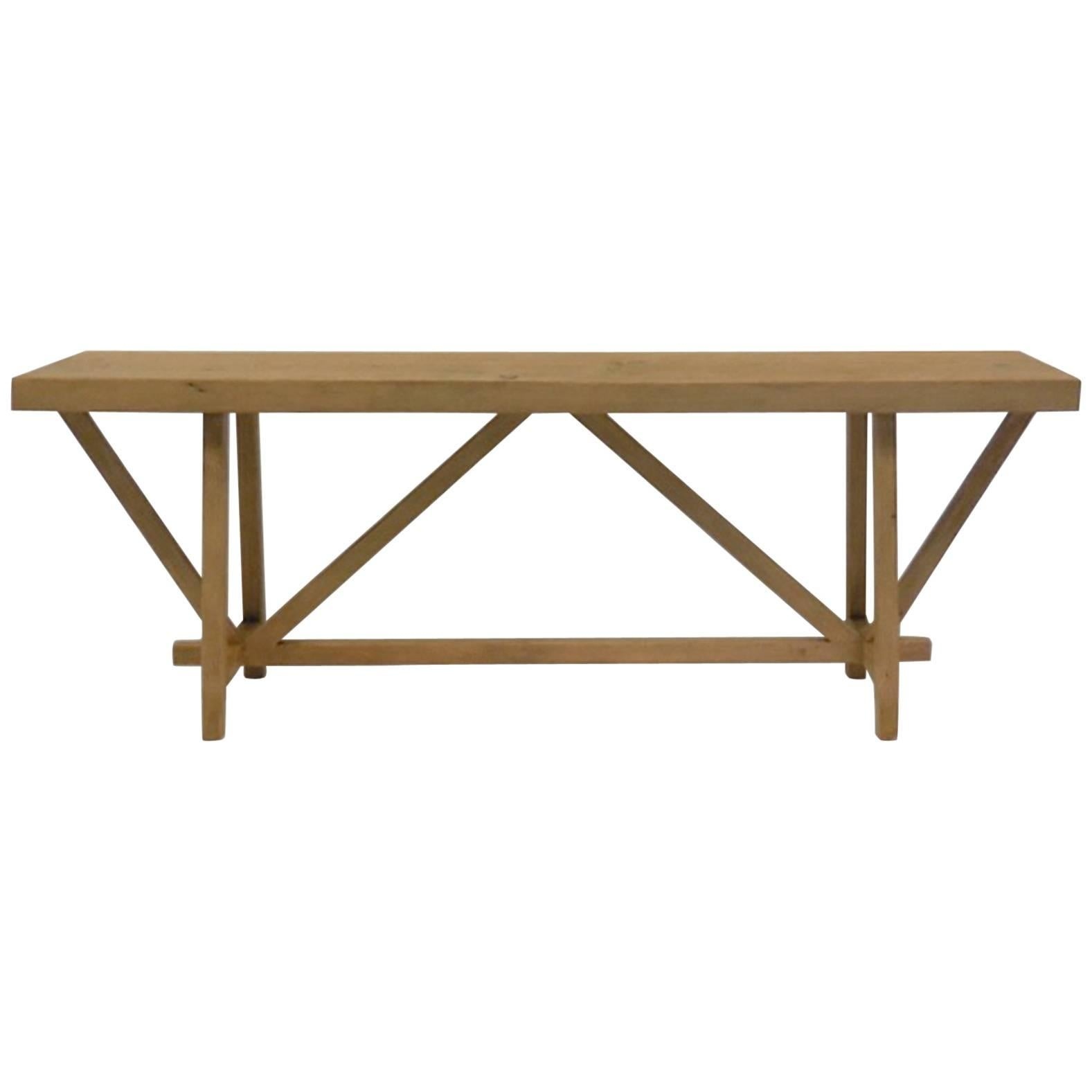 Dos Gallos Custom Reclaimed Wood Buttress Console
