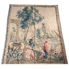Aubusson Pastoral Tapestry, 18th Century