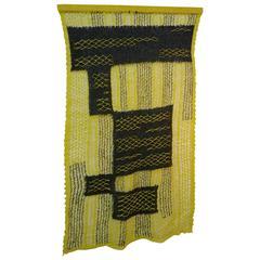 Delicate 1960s Handwoven Textile