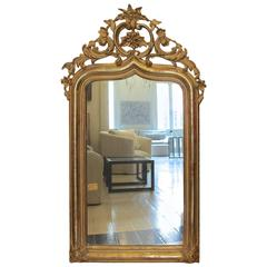Antique French 19th Century Louis XV Style Gilded Mirror