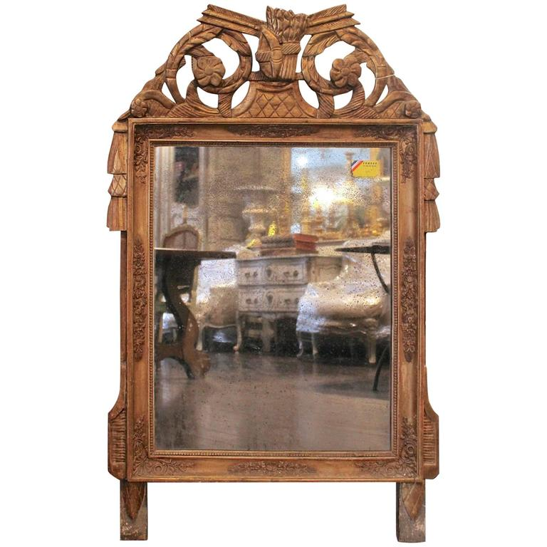 Antique French Early 19th Century Period Restoration I Gilded Mirror