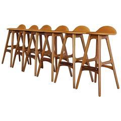 Set of Six Barstools by Erik Buch